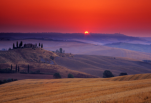 Sunrise in Tuscany, Italy