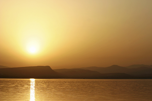 Sea of Galilee at sunset
