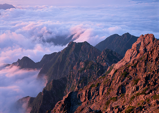 Clouds And Mountain with mist