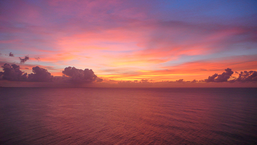 Ocean from the Two Lovers Point in Guam