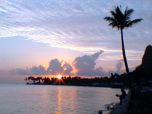 Sunset in Bongao, Tawi-Tawi, Southern Philippines (Mindanao)