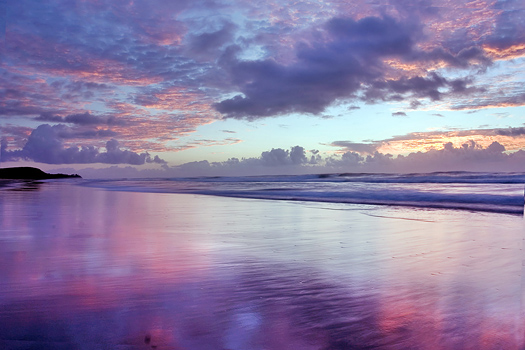 Beautiful sunrise at Noosa Beach - Australia
