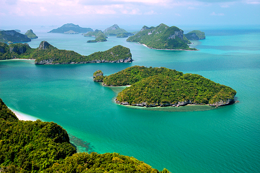 Landscape in a marine park in Thailand