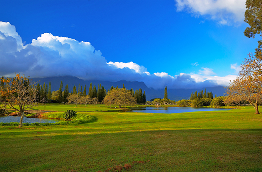 Princeville golf course on Kauai Hawaii.