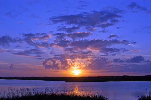 Sunset over Hummock Pond, Nantucket