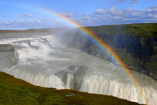 Rainbow falls, Iceland