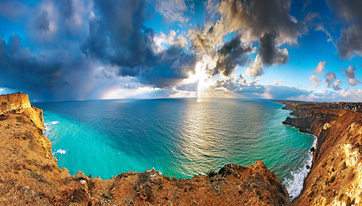 The Black Sea with storm clouds