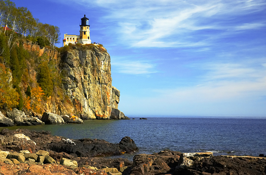 Split Rock Lighthouse on Lake Superior North Shore