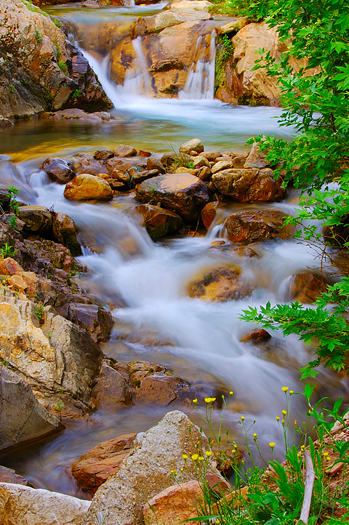 Bubbling brook over rocks