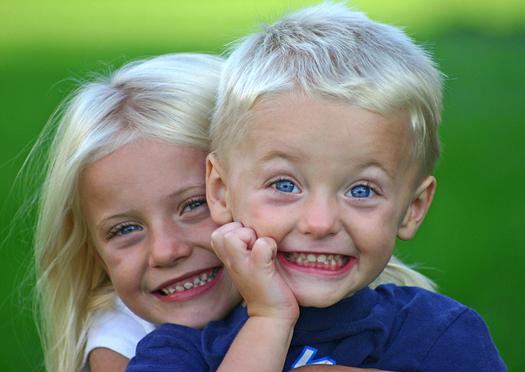 Sister Hugging Little Brother