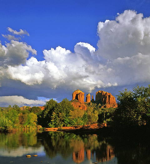 Cathedral Rock and Oak Creek near Sedona, Arizona.