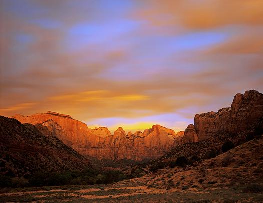 Towers of the Virgin in Zion National Park, Utah.