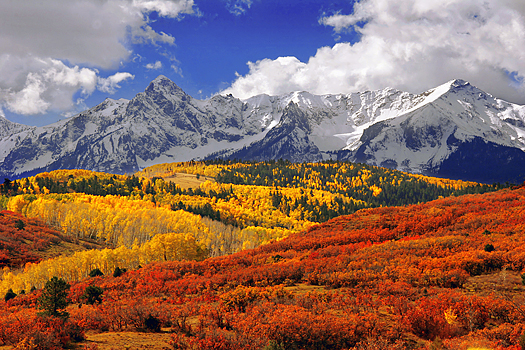 Colorado San Juan mountains in fall