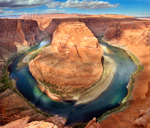 horseshoe bend. colorado river