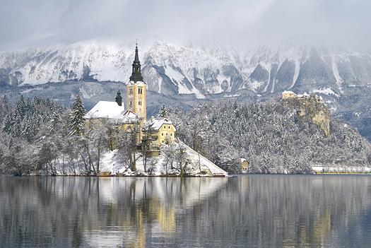 Lake Bled, number one tourist site in Slovenia. Europe.
