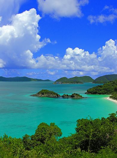 Trunk Bay Overlook, St John US National Park, USVI