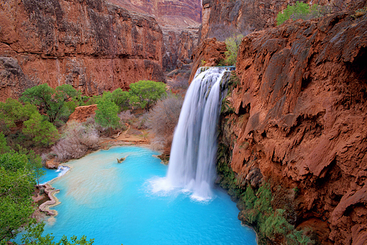 Zion Canyon Waterfall, Utah