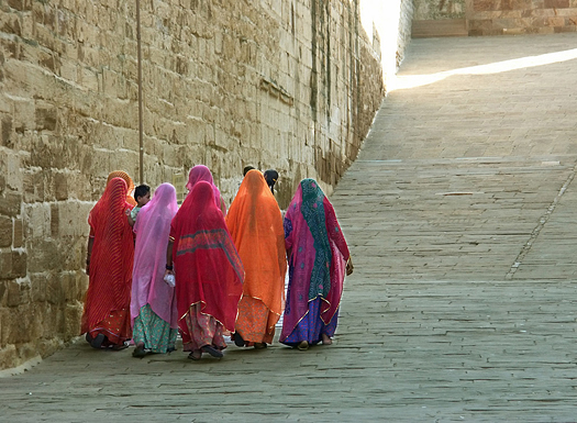 Indian ladies at Mehrangarh Fort,Jodhpur.