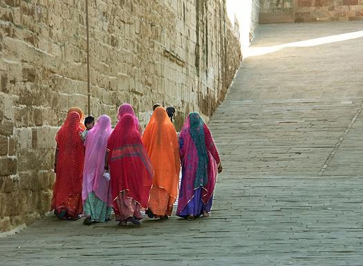 Indian ladies at Mehrangarh Fort,Jodhpur.