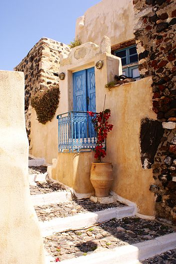 Old house on Santorini island
