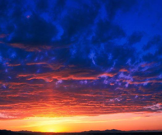Salt Lake Valley Sunset, Utah. Red and purple clouds