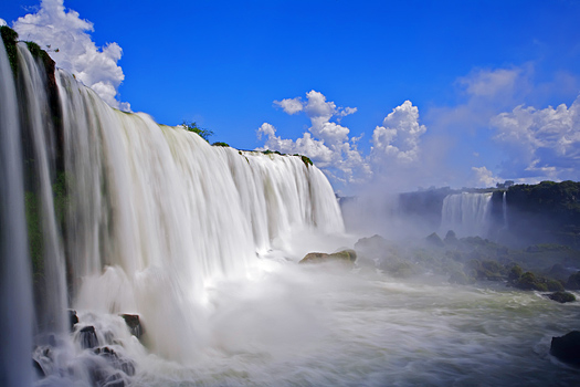 Iguassu Falls in Brazil, Argentina, and Paraguay.