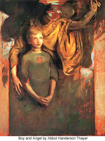 Boy and Angel by Abbot Handerson Thayer