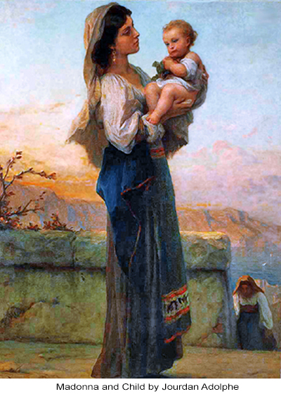 Madonna and Child by Jourdan Adolphe