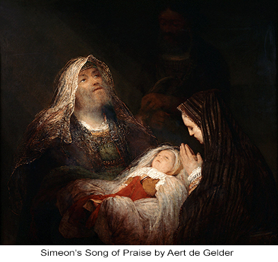 Simeon's Song of Praise by Aert de Gelder