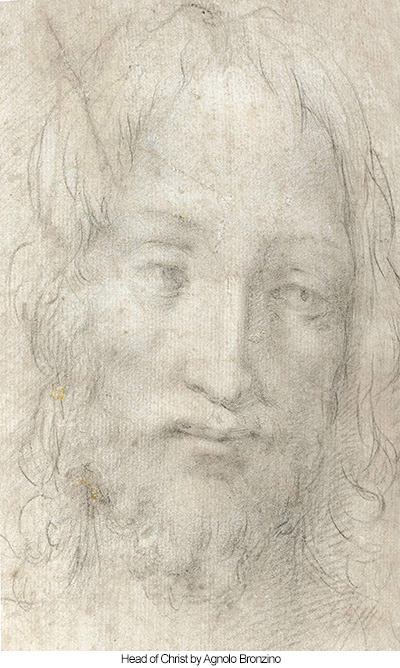 Head of Christ by Agnolo Bronzino