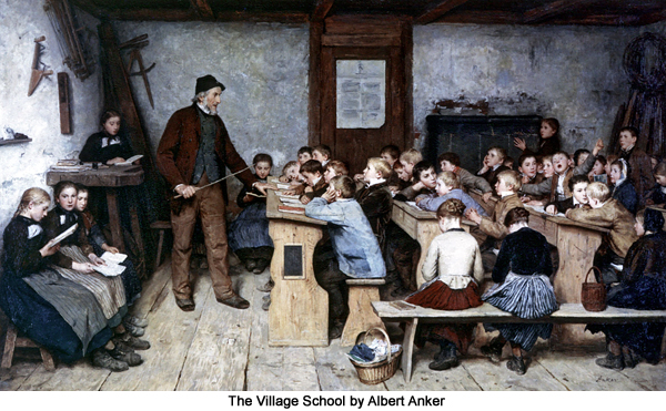 Die Dorfschule [The Village School] by Albert Anker