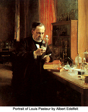 Portrait of Louis Pasteur by Albert Edelfelt