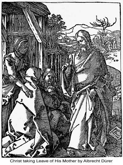 Christ taking Leave of His Mother by Albrecht Dürer