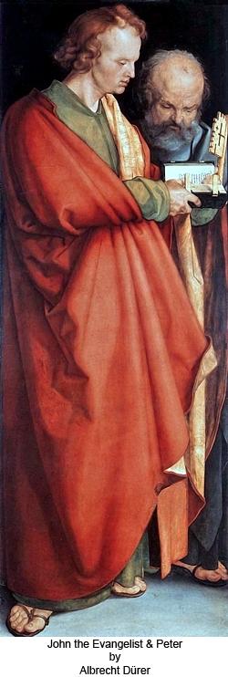 John the Evangelist and Peter by Albrecht Dürer