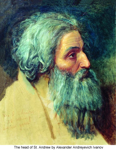 The head of St. Andrew by Alexander Andreyevich Ivanov