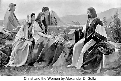 Christ and the Women by Alexander Demetrius Goltz