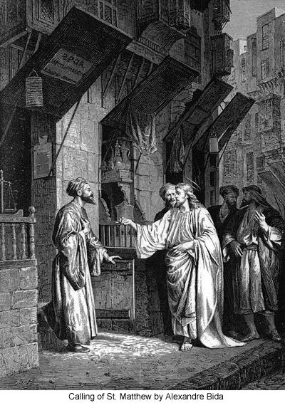 Calling of St. Matthew by Alexandre Bida