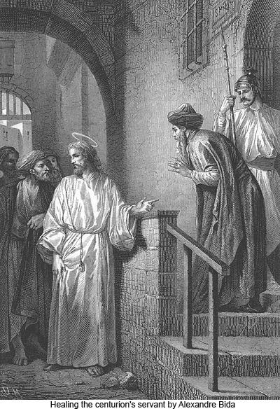 Healing the centurions servant by Alexandre Bida