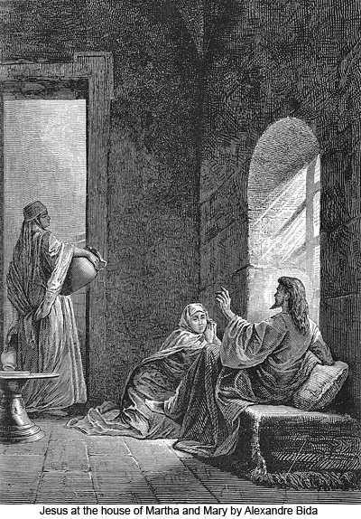 Jesus at the House of Martha and Mary by Alexandre Bida