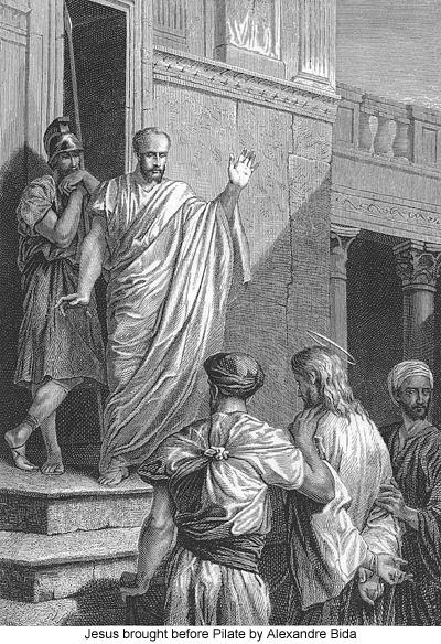 Jesus brought before Pilate by Alexandre Bida