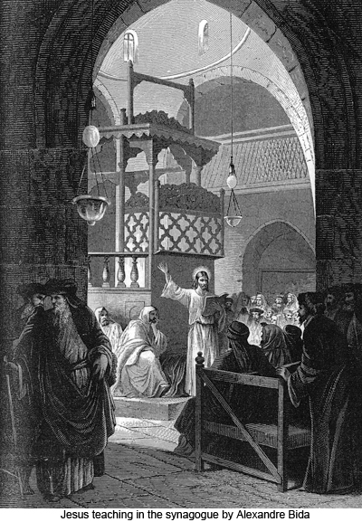 Jesus teaching in the synagogue by Alexandre Bida
