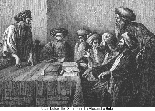 Judas Before the Sanhedrin by Alexandre Bida