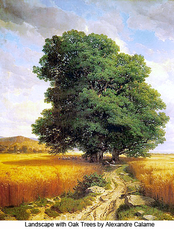 Landscape with Oak Trees by Alexandre Calame