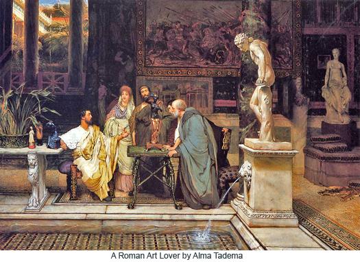 A Roman Art Lover by Alma Tadema