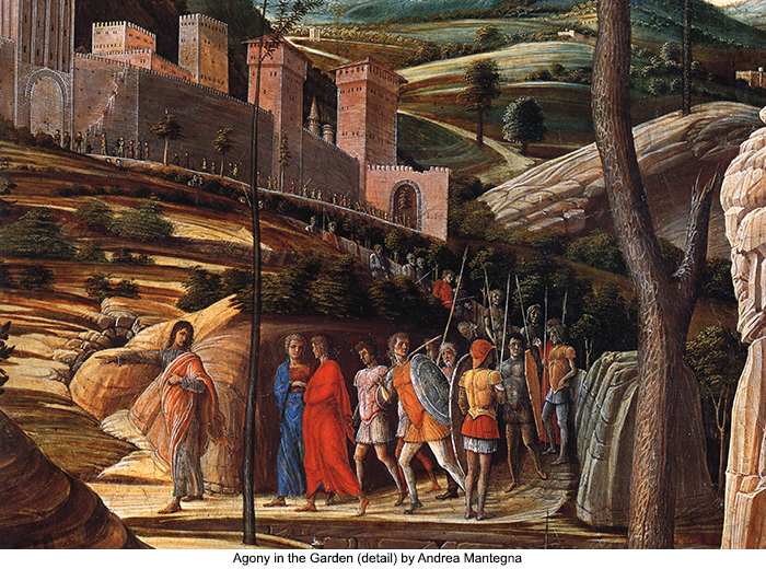 Agony in the Garden (detail) by Andrea Mantegna