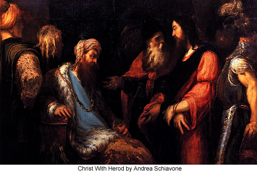 Christ With Herod by Andrea Schiavone