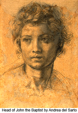 Head of John the Baptist by Andrea del Sarto