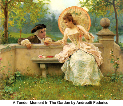 A Tender Moment In The Garden by Andreotti Federico