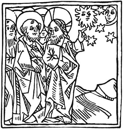 Christ speaking to his apostles (Anon)