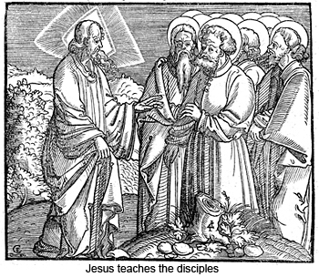 Jesus teaches the disciples